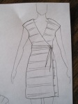 clotheshorse dress sketch