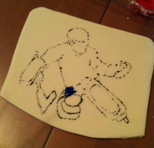 2014-01-09 hockey goalie cake plaque step 2