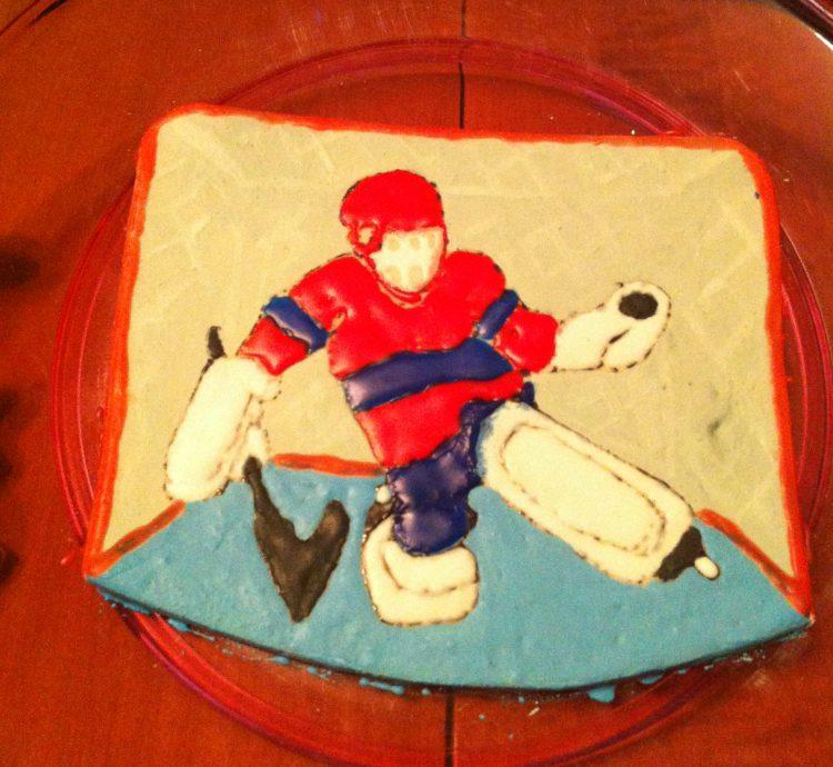 Hockey Goalie Cake