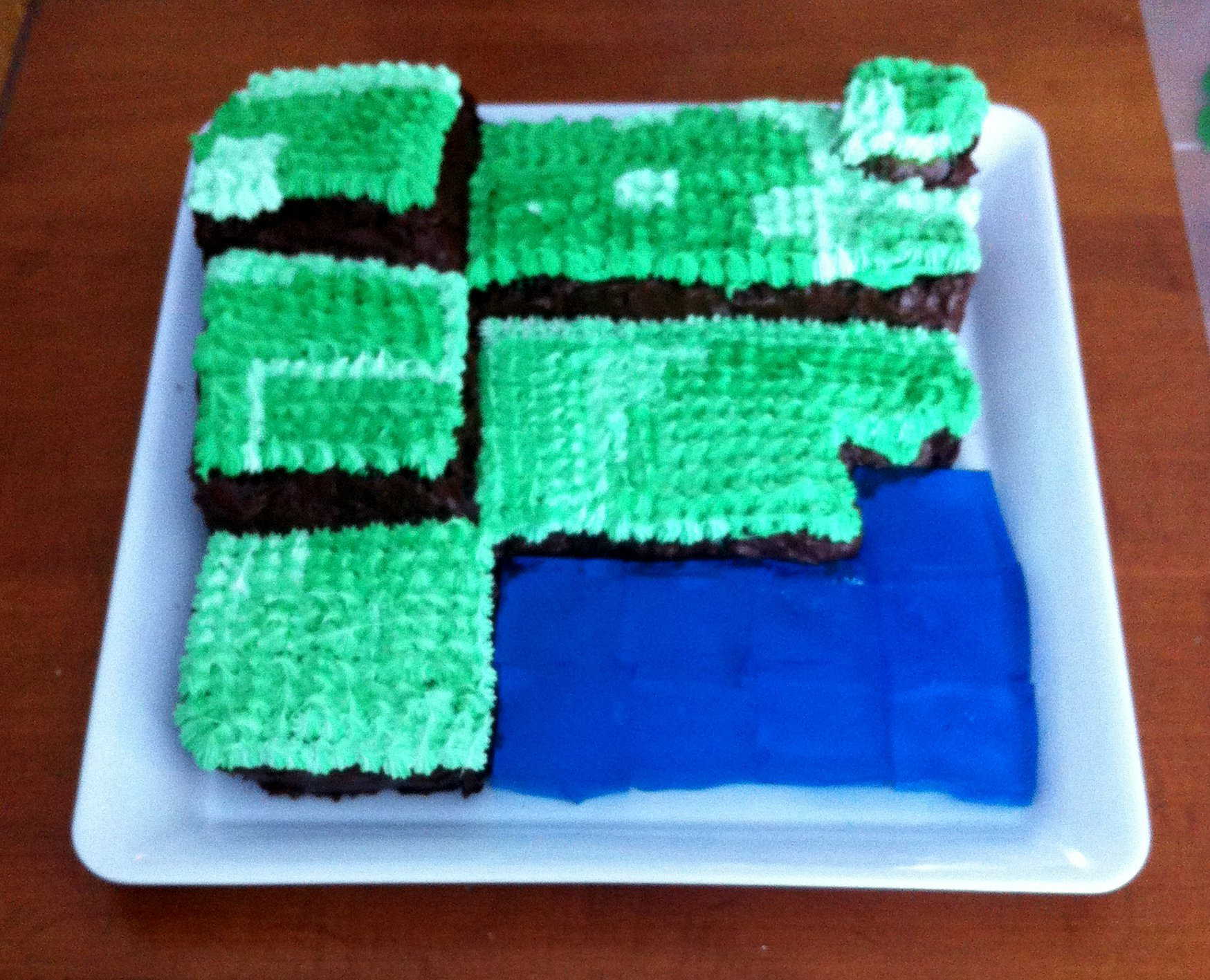 mc cake front