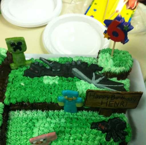 mc party cake closeup
