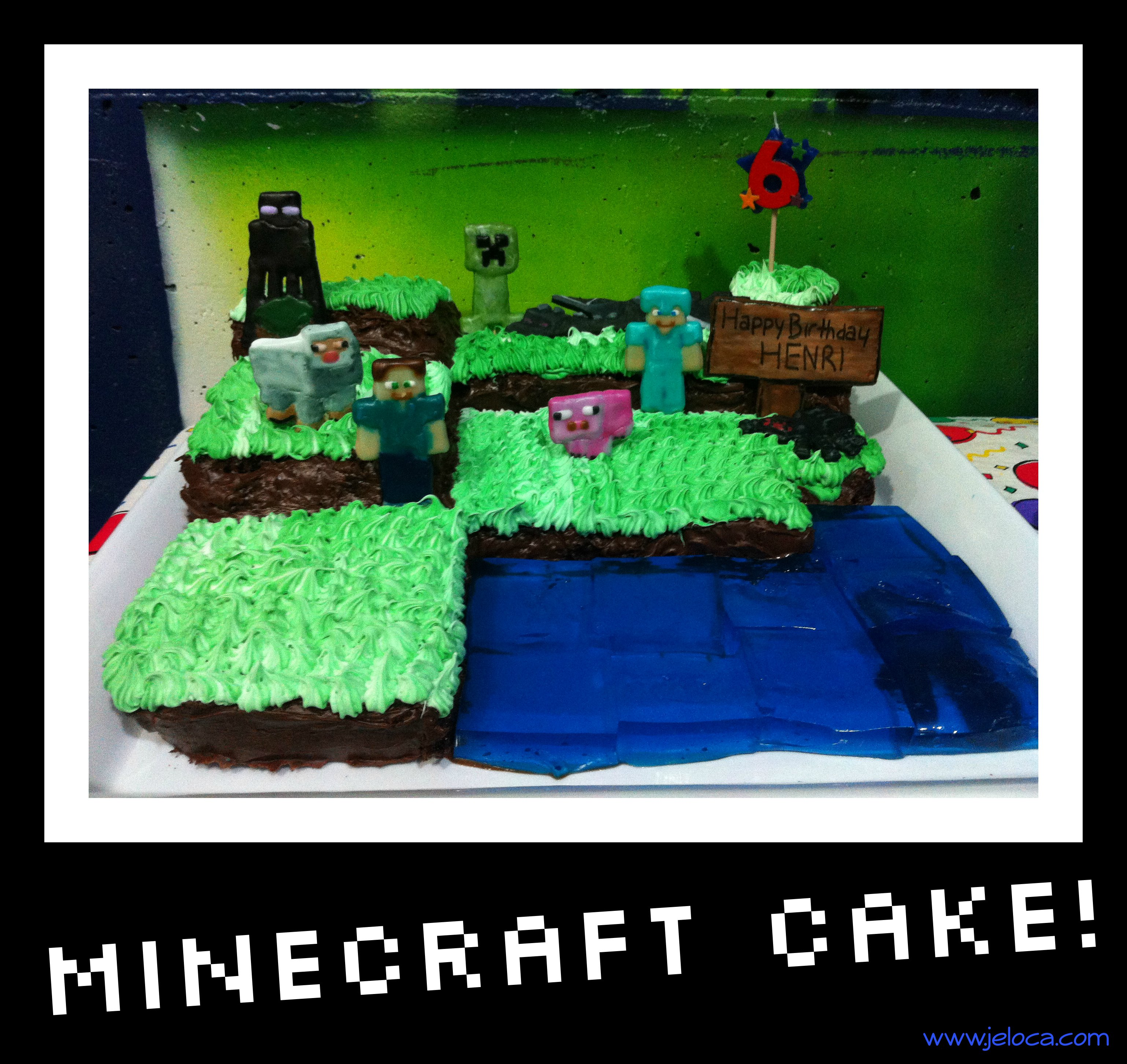 Excellent How To Make A Minecraft Cake Birthday Cards Printable Giouspongecafe Filternl