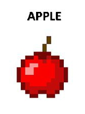 red apple 3inby225in