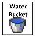 water bucket 2inby175in