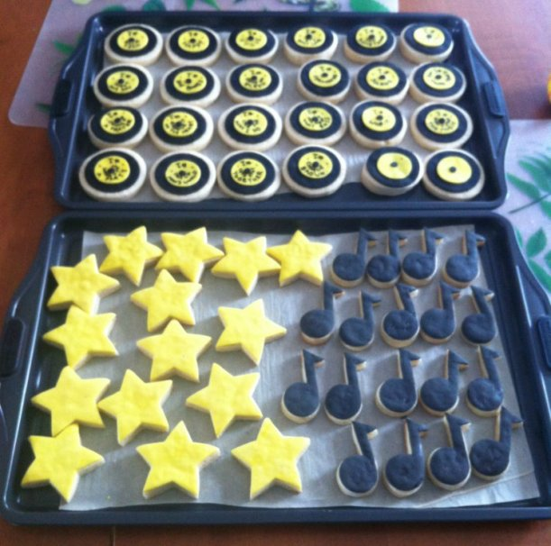 2015-04-11 record star music note cookies 01