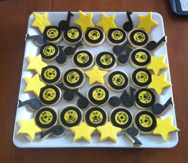 2015-04-11 record star music note cookies 02