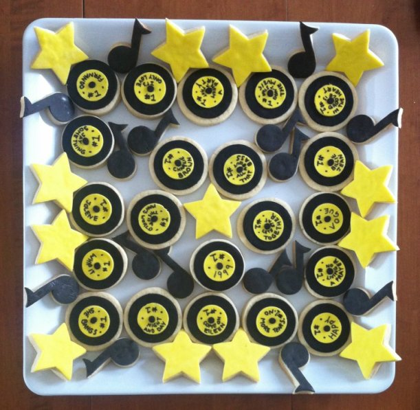 2015-04-11 record star music note cookies 03