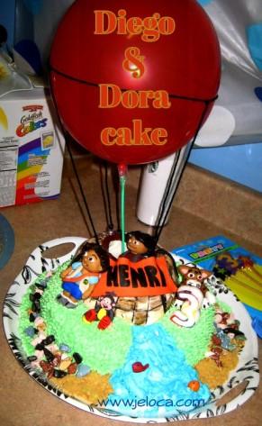 diego dora cake titled