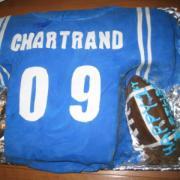 football cake square
