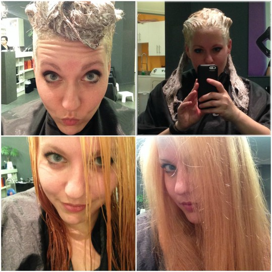 step 1 blonde collage