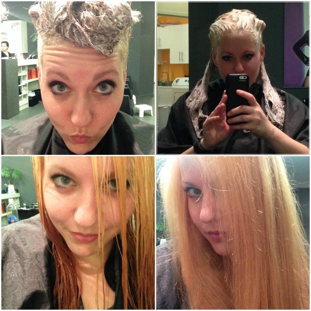 step 1 blonde collage