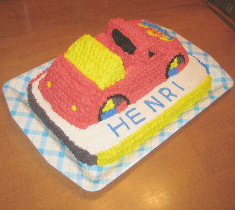 the wiggles big red car cake 01