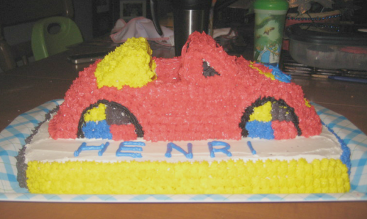 the wiggles big red car cake 03