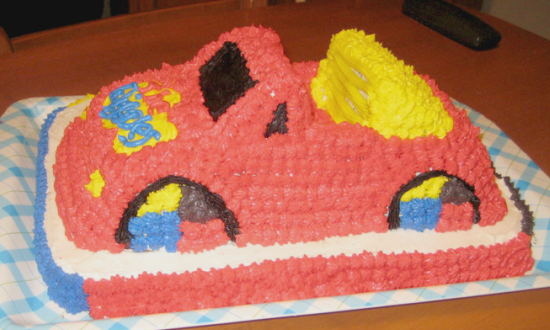 the wiggles big red car cake 05