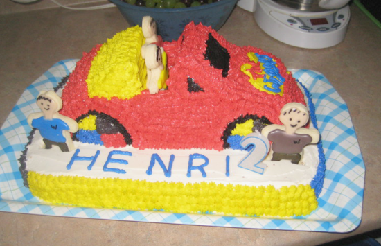 the wiggles big red car cake 06