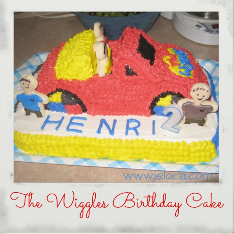 the wiggles big red car cake