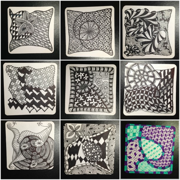 zentangle collage 01- 09