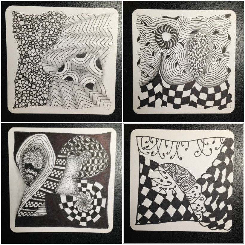 zentangle collage 10- 13
