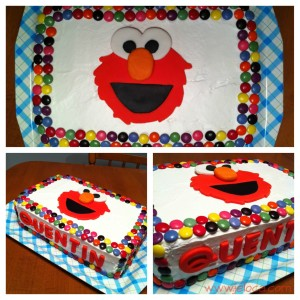 elmo cake collage