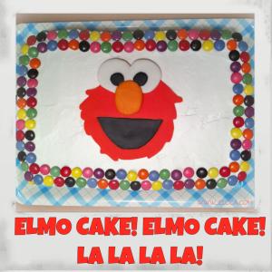 elmo cake square