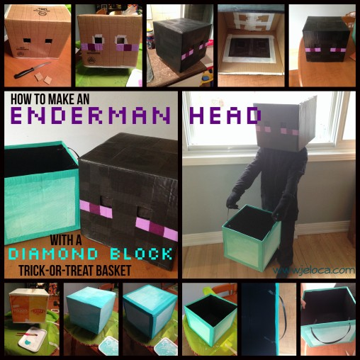 How To Make A Minecraft Enderman Head With Bonus Diamond