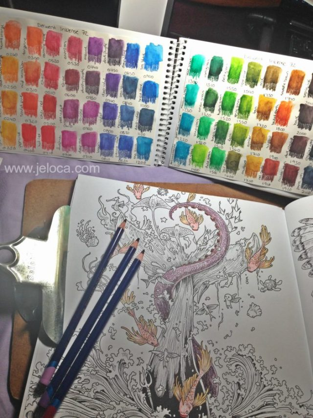 Derwent Inktense Before And After In Kerby Rosanes Imagimorphia