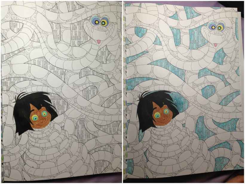 Coloring Mowgli And Kaa In The Art Of Disney Villains With