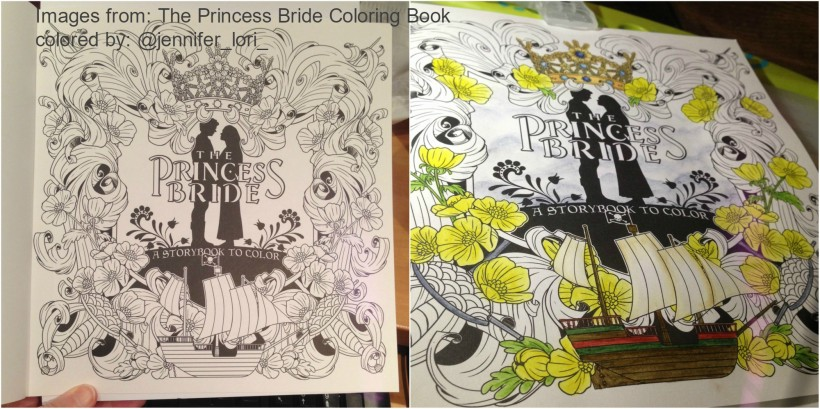 The Princess Bride Coloring Book title page wip