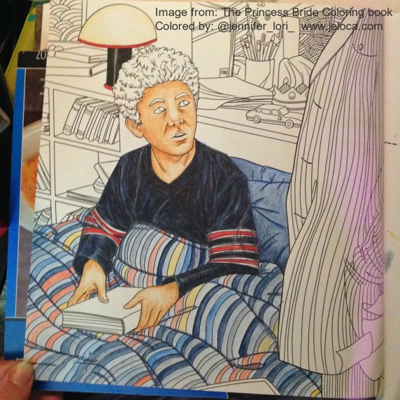 The Princess Bride Coloring Book the Grandfather and Grandson