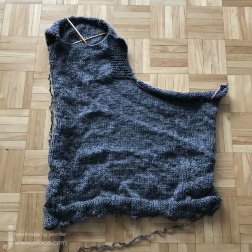 wip drops knit vneck