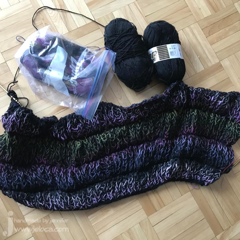 wip fluffy shawl